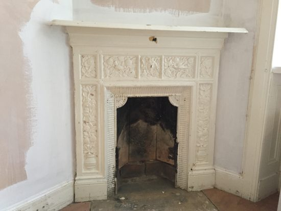 Fireplace unstripped